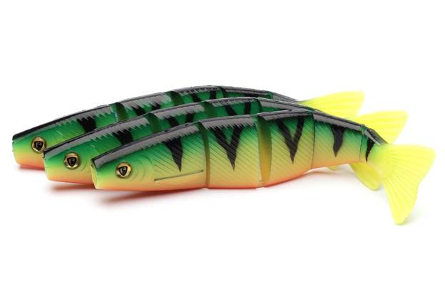 NPS - FOX RAGE GUMA PRO SHAD JOINTED - UV FIRETIGER