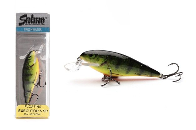 QEX009 - SALMO WOBLER EXECUTOR SHALLOW RUNNER 7cm- REAL HOT PERCH
