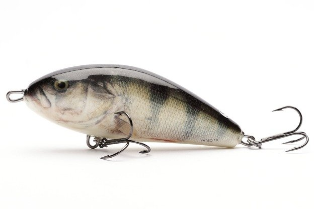 QFA002 - SALMO WOBLER FATSO FLOATING 10cm - REAL PERCH