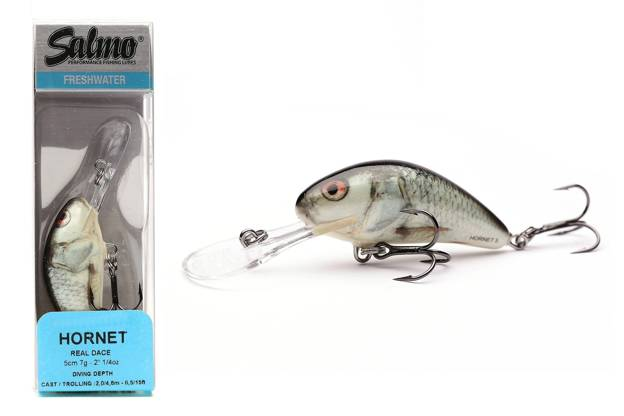 QHT040 - SALMO WOBLER HORNET SINKING 4cm- REAL DACE