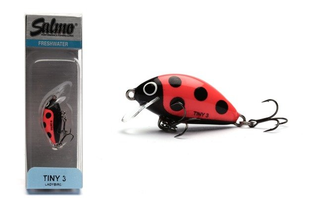 QIT003 - SALMO WOBLER TINY FLOATING 3cm - LADYBIRD