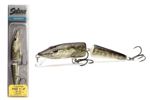 QPE008 - SALMO WOBLER PIKE JOINTED F 11cm-REAL PIKE