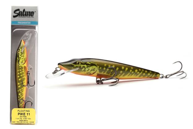 QPE011 - SALMO WOBLER PIKE FLOATING 9cm-HOT PIKE