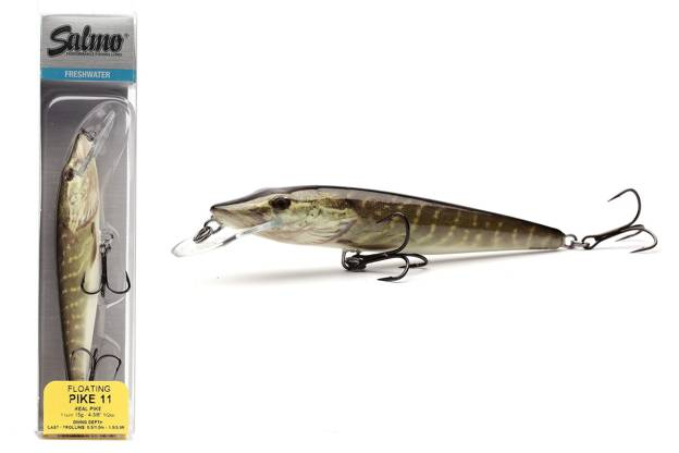 QPE027 - SALMO WOBLER PIKE FLOATING 9cm-REAL PIKE