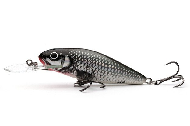QPH001 - SALMO WOBLER PERCH DEEP RUNNER 8cm- HOLOGRAPHIC GREY SHINER