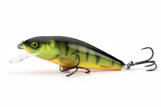 QPH008 - SALMO WOBLER PERCH FLOATING 8cm - HOT PERCH