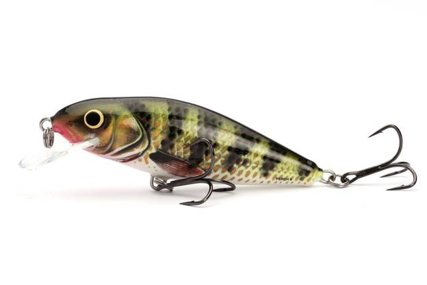 QPH022 - SALMO WOBLER PERCH FLOATING 12cm - HOLOGRAPHIC PERCH