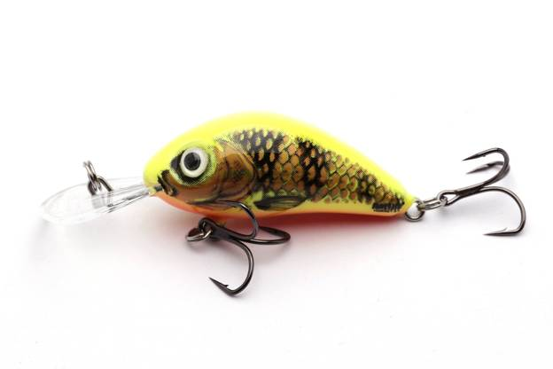 QRH269 - SALMO WOBLER RATTLIN HORNET F 3,5cm- GOLD FLUO PERCH