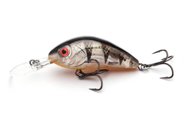QRH361 - SALMO WOBLER RATTLIN HORNET F 4,5cm- CLEAR YOUNG PERCH