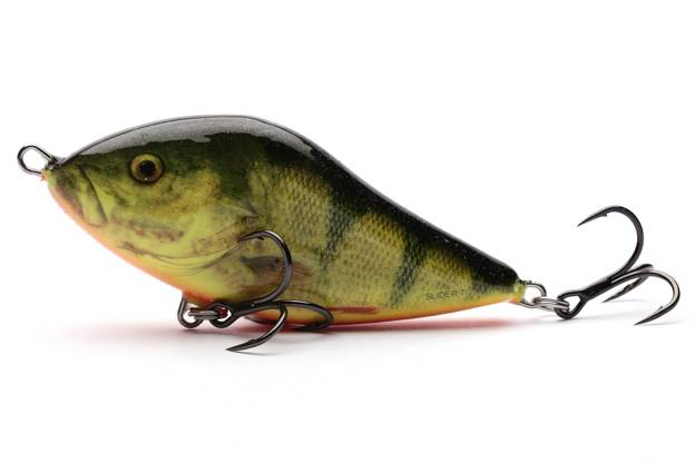 QSD022 - SALMO WOBLER SLIDER FLOATING 10cm - REAL HOT PERCH