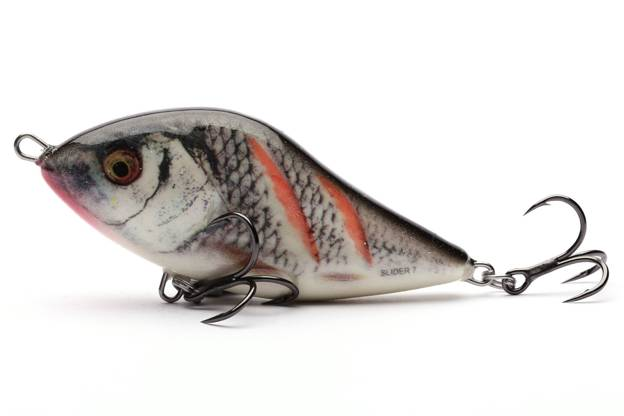 QSD032 - SALMO WOBLER SLIDER SINKING 10cm - WOUNDED REAL GREY SHINER