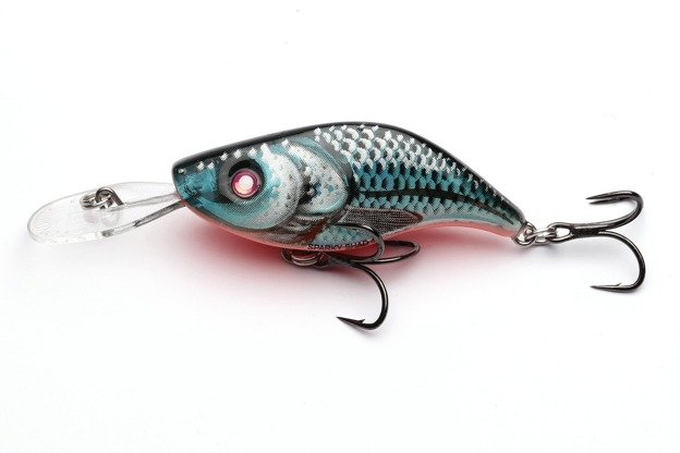 QSS003 - SALMO WOBLER SPARKY SHAD S 4cm - BLUE HOLOGRAPHIC SHAD