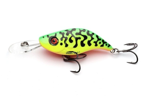QSS005 - SALMO WOBLER SPARKY SHAD S 4cm - GREEN TIGER