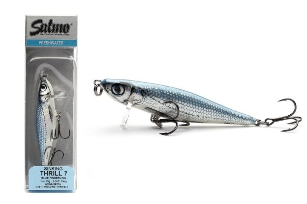 QTH002 - SALMO WOBLER THRILL S 5cm - BLUE FINGERLING