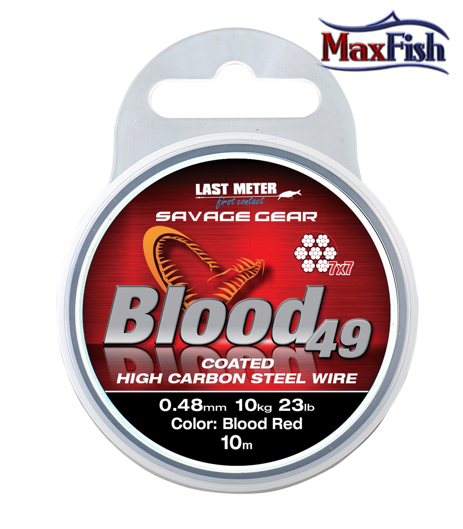 Savage Gear Materia³ Przyponowy Blood 49 0.48mm 10m
