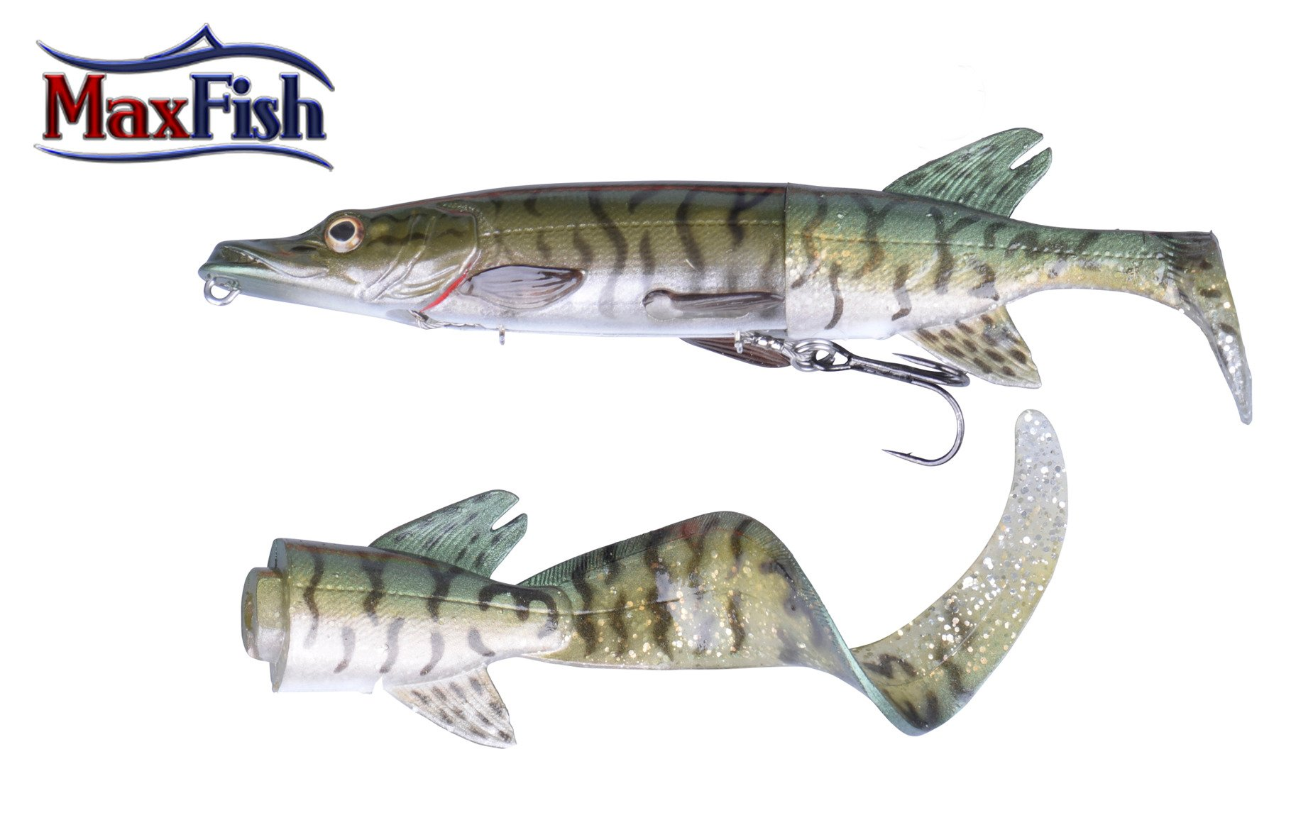 Savage Gear 3D Hybride Pike - 17cm 45g Green Silver