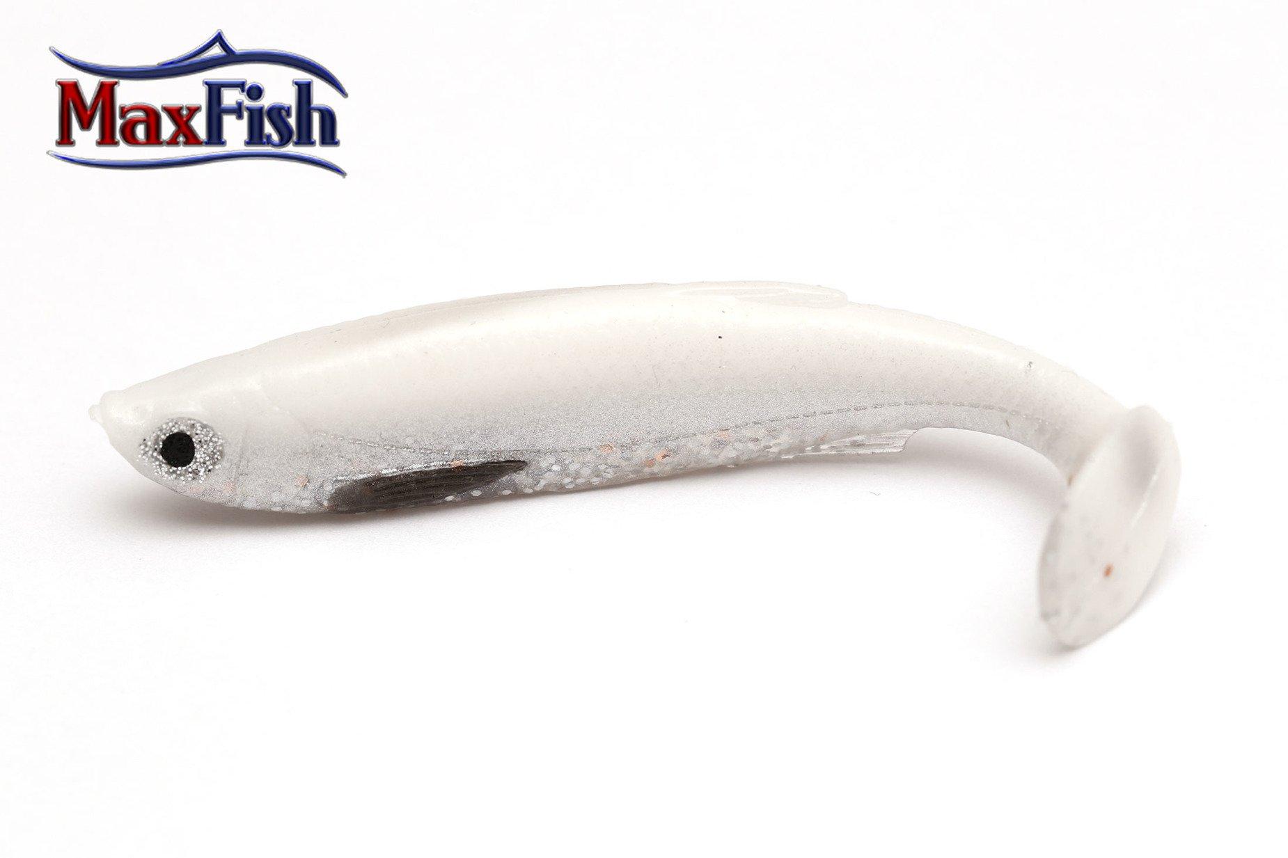 Savage Gear 3d Bleak Paddle Tail- White Silver 8cm 4g