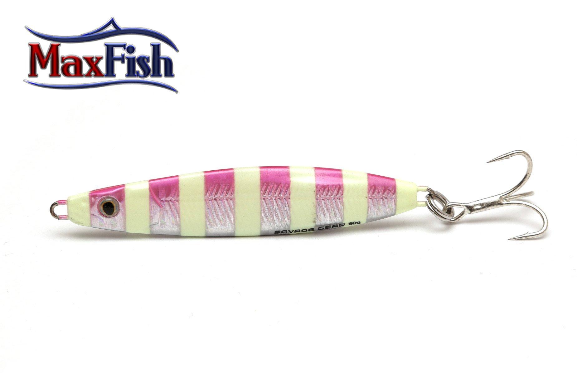 Savage Gear Psycho Sprat - Pink Glow Zebra 6.8cm 28g