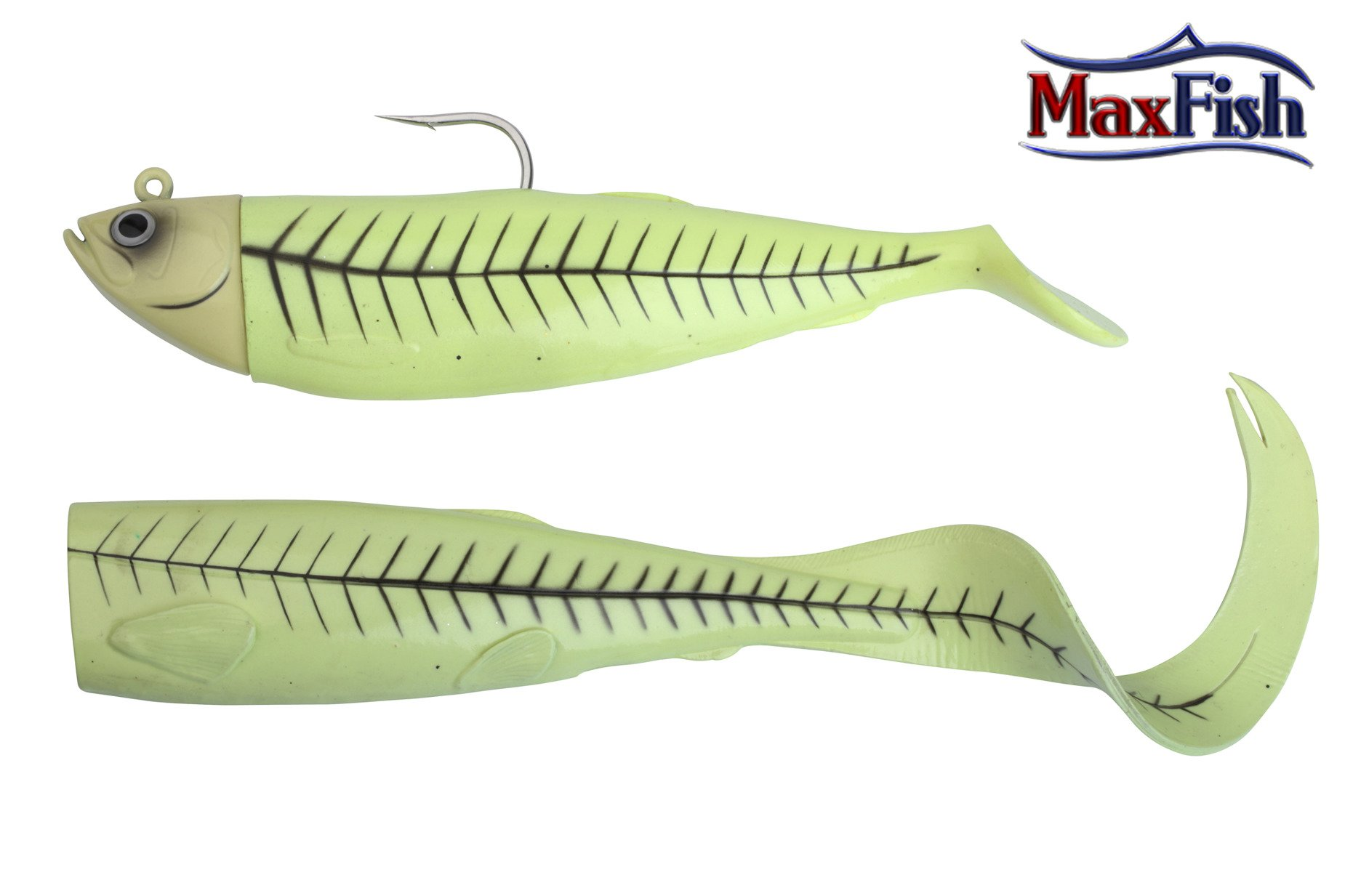 Savage Gear Cutbait Herring zestaw - Green Glow 20cm 270g