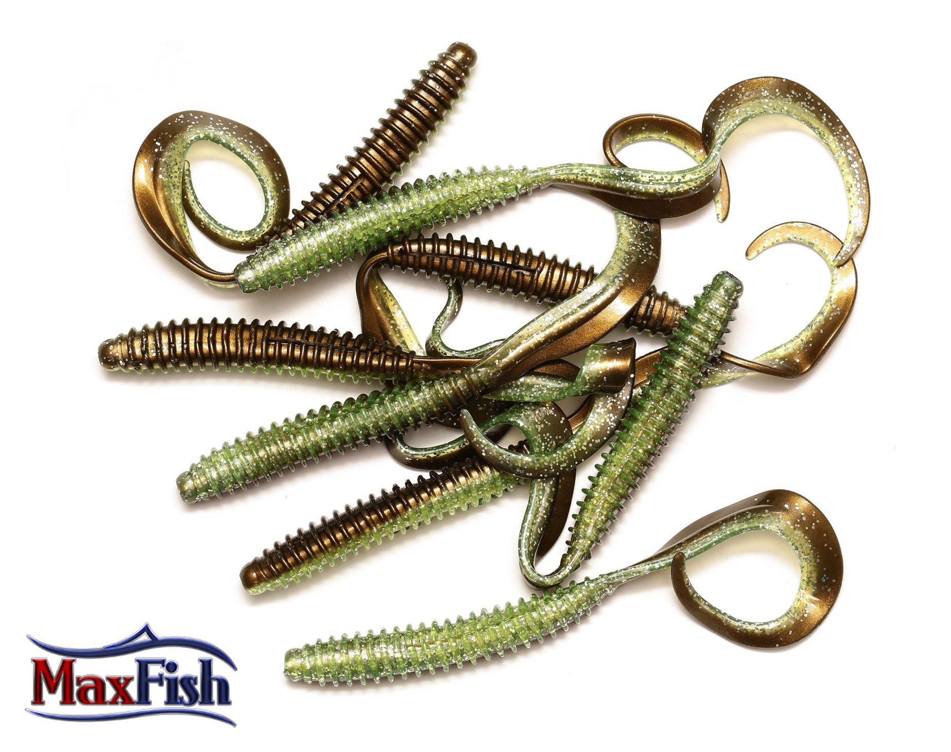 Savage Gear Rib Worm - Green Silver 11cm