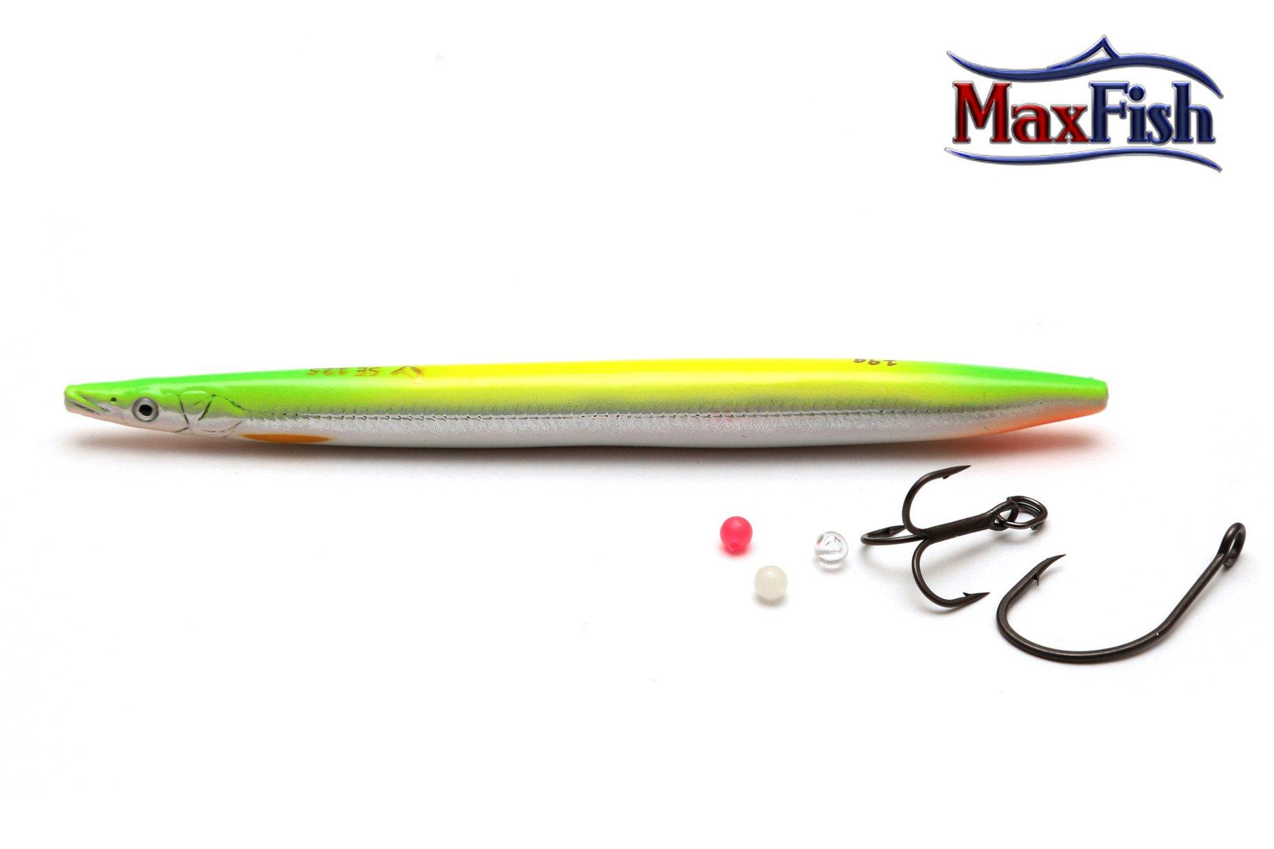 Savage Gear Line Thru Sandeel - Yg Silver 17.5cm 40g