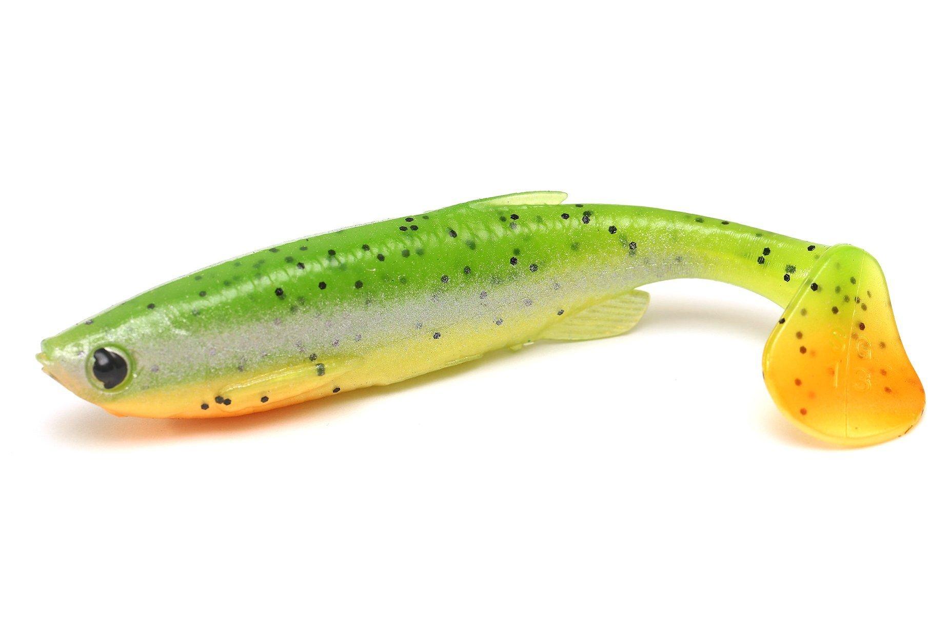 Savage Gear Fat-tail Minnow - Fluo Green Silver 7.5cm 5g