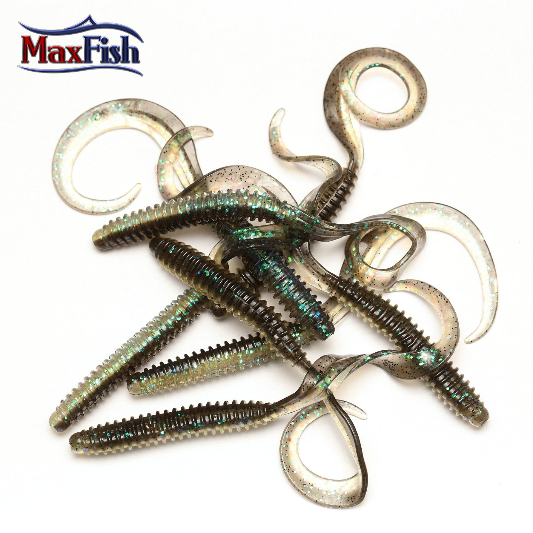 Savage Gear Rib Worm - Blue Glitter 9cm
