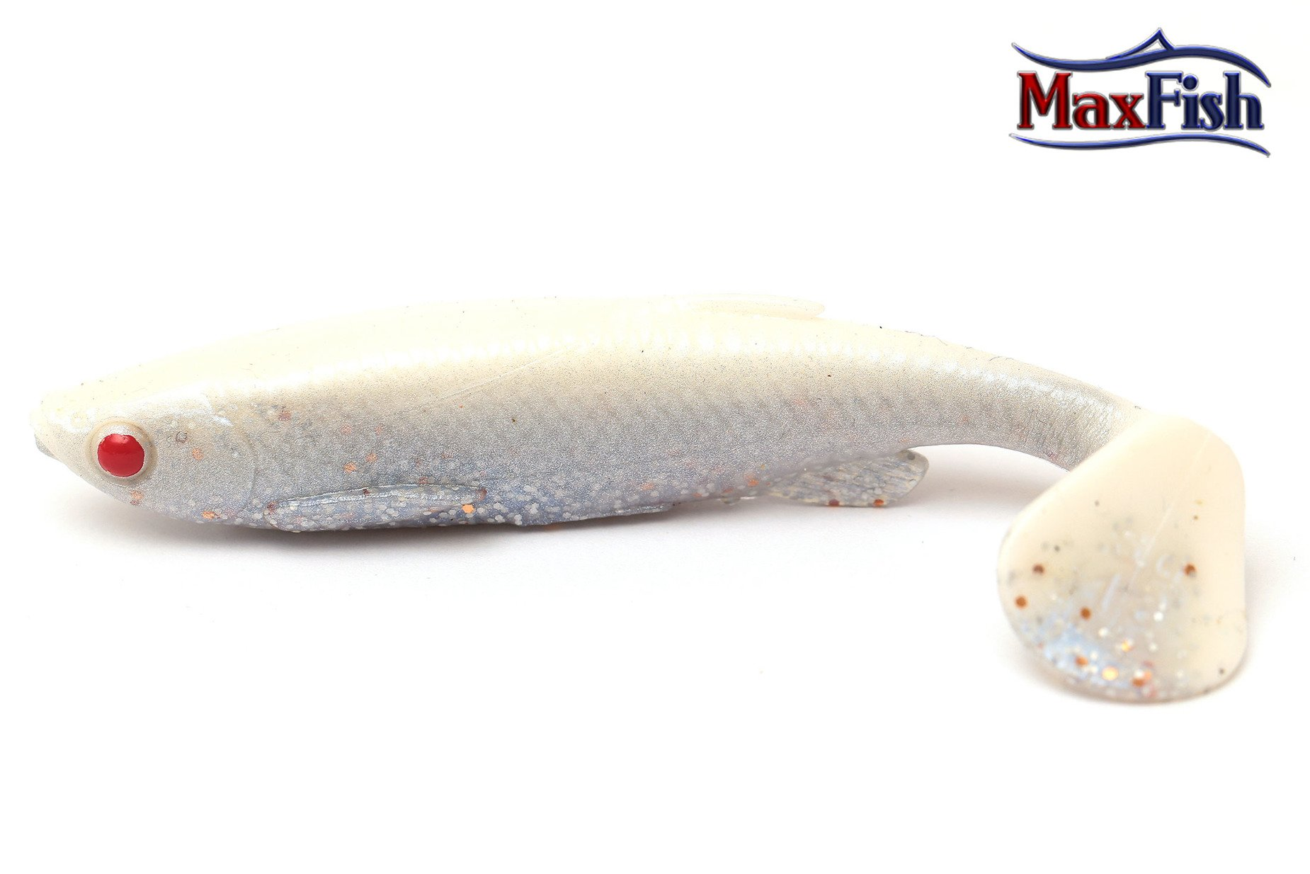 Savage Gear Fat-tail Minnow - White Silver 7.5cm 5g