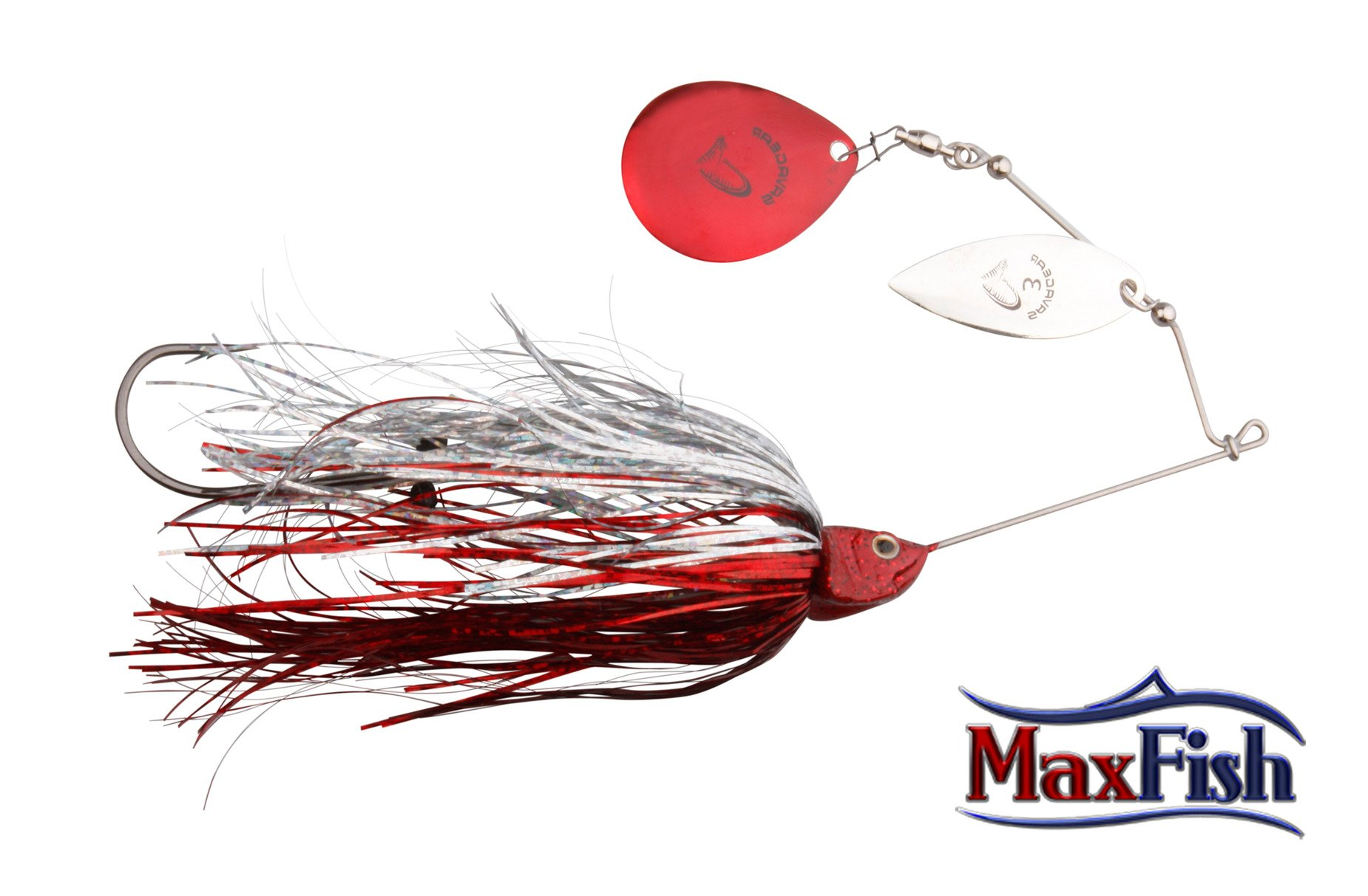 Savage Gear Da Bush Spinnerbait - Red Silver Flash 16cm 32g