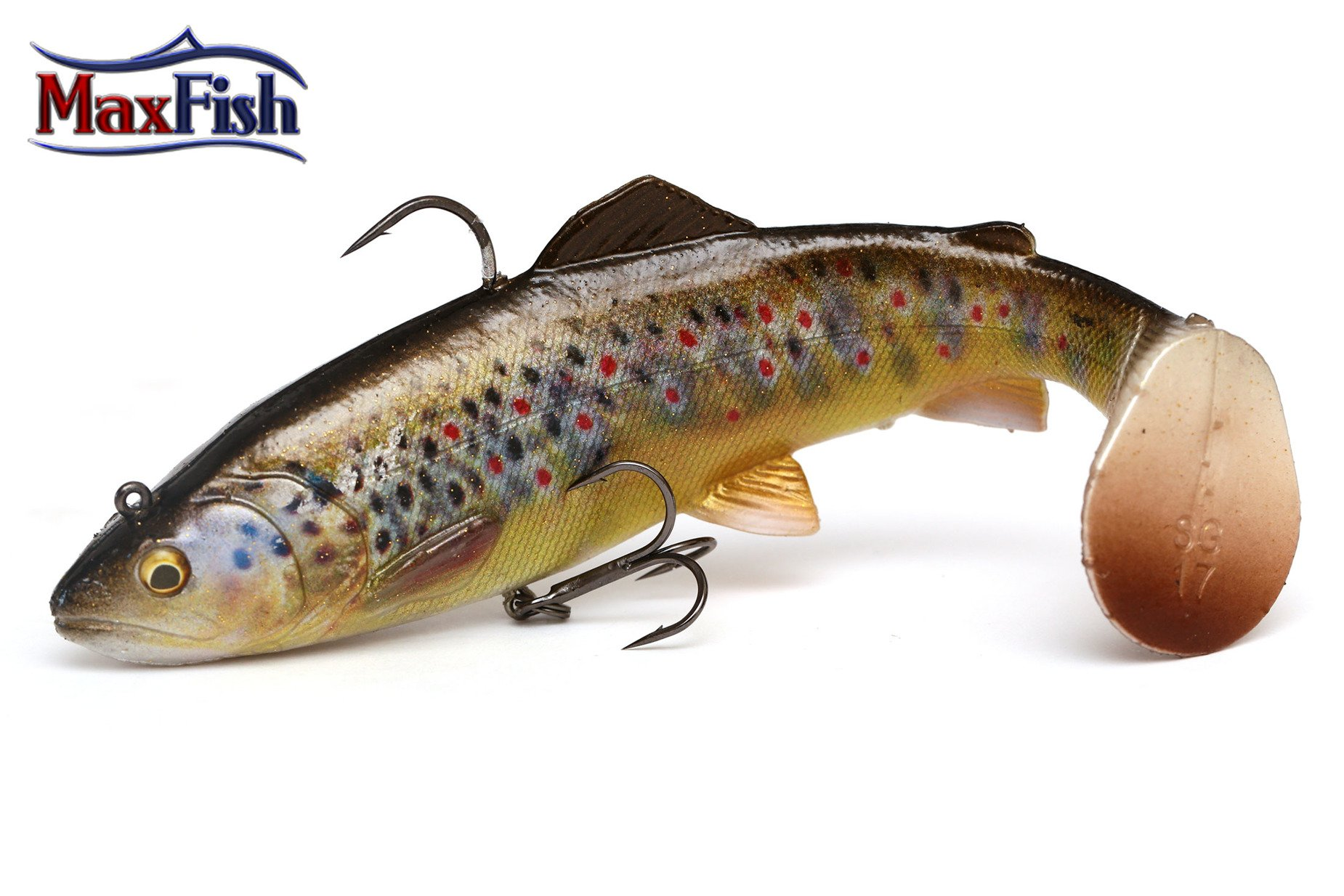 Savage Gear 4D Rattle Trout - Dark Brown Trout 12.5cm 35g